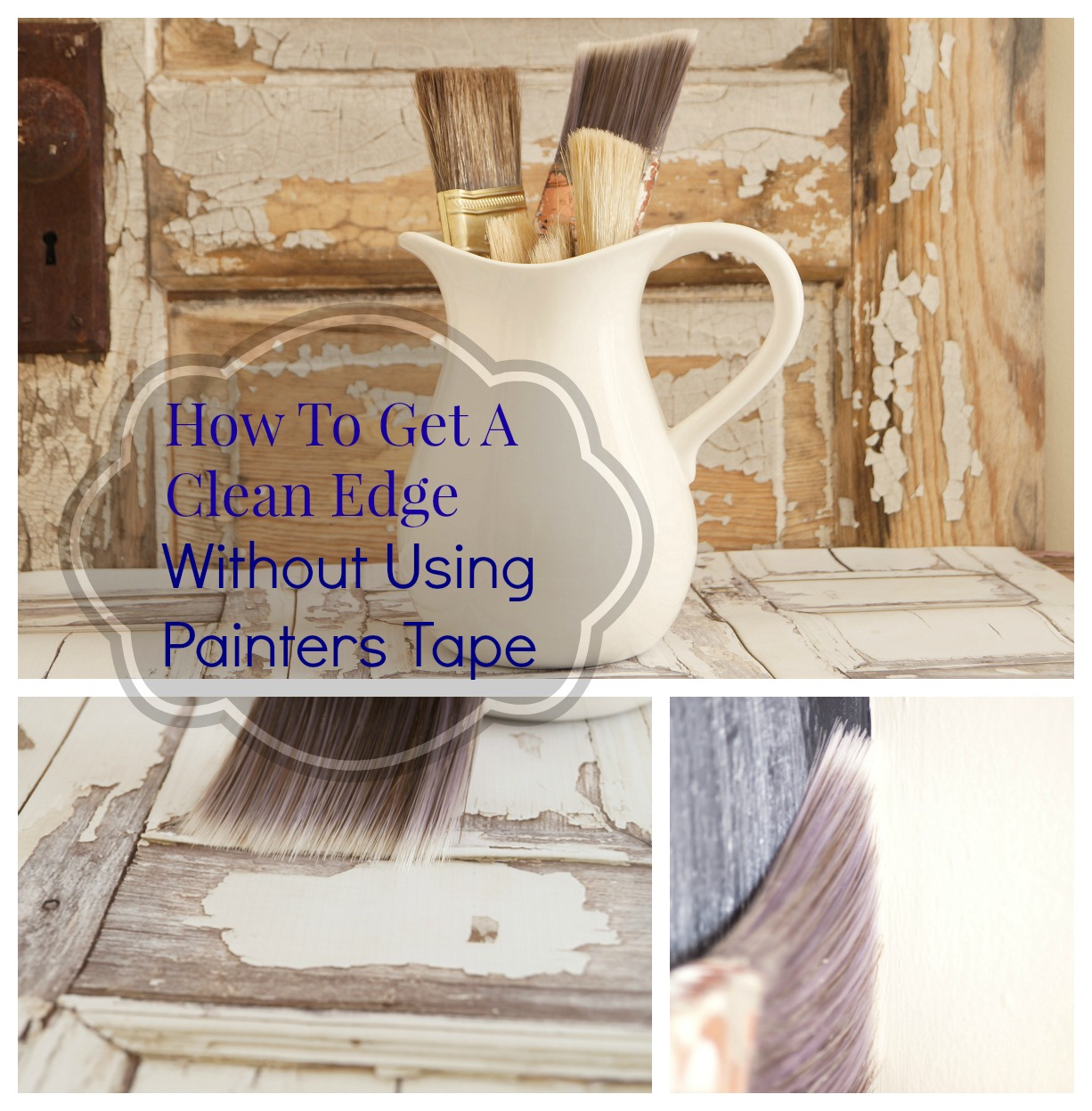 how to get a clean edge without using painters tape