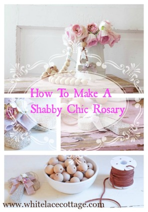 how to make a shabby chic rosary