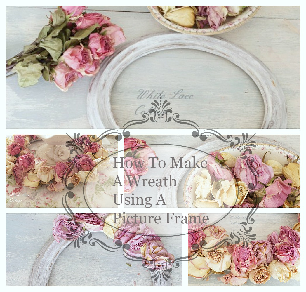 how to make a wreath using a picture frame