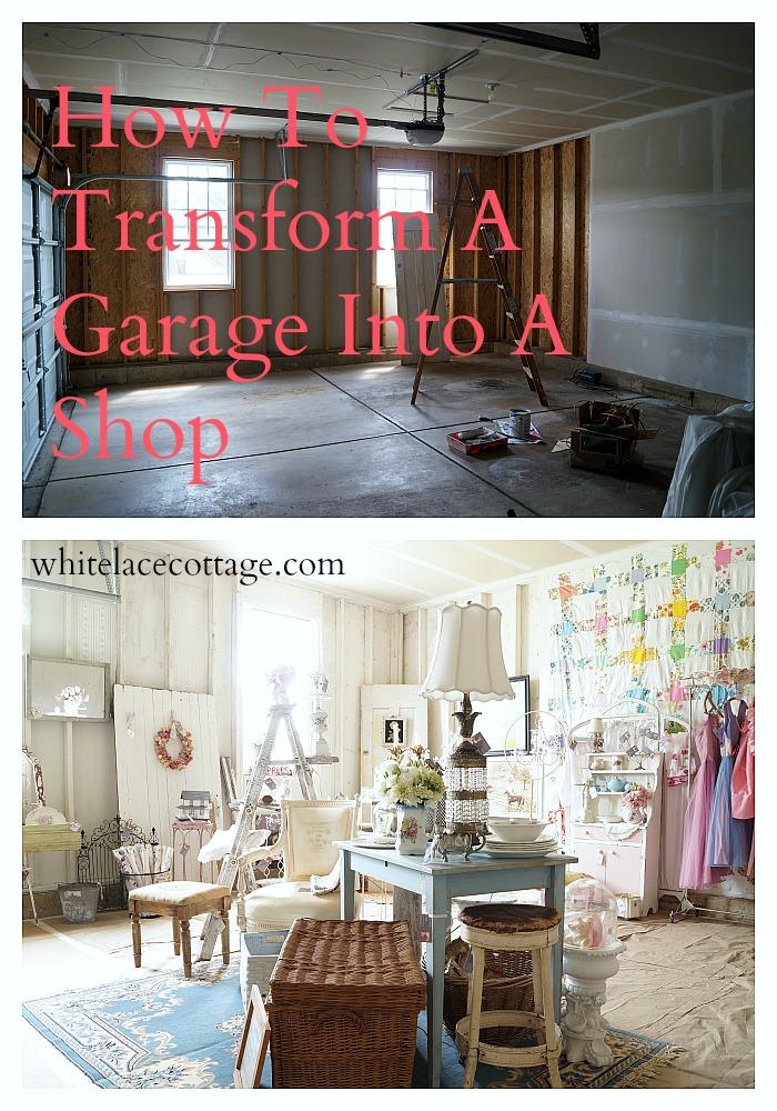 how to transform a garage into a shop