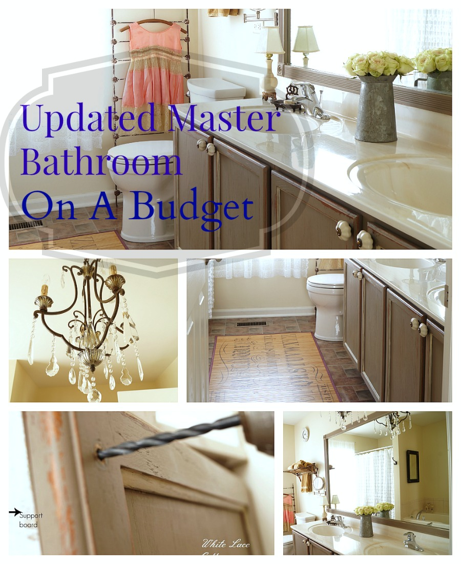 updated master bathroom on a budget