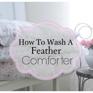 How to wash a feather comforter