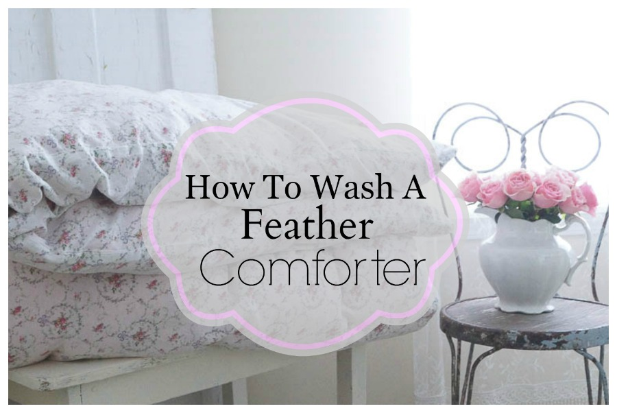 how to wash a comforter in a washing machine