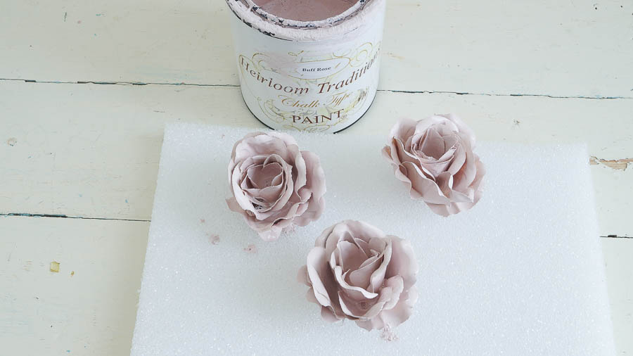 Porcelain Roses From Chalk Paint