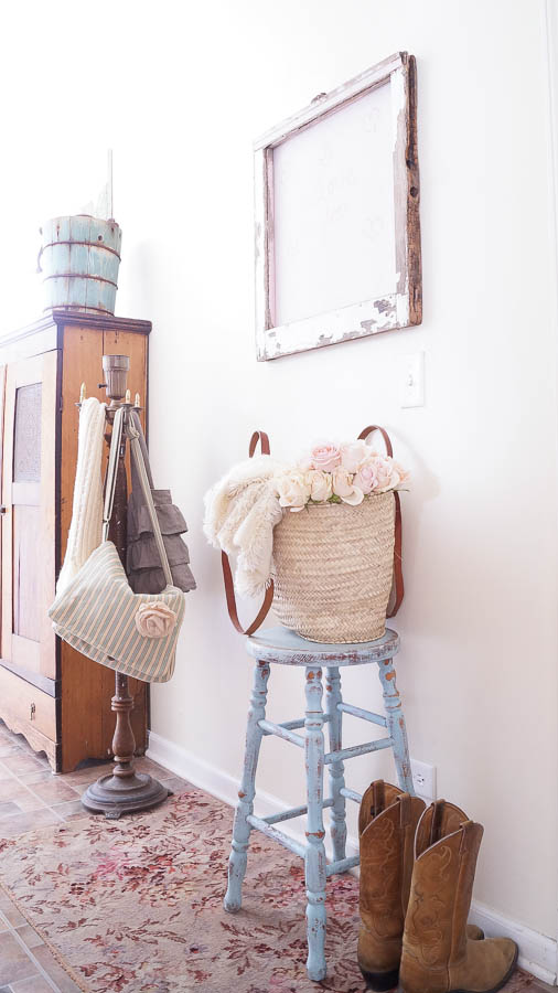 Easy DIY Framed Chalkboard Wall - White Lace Cottage