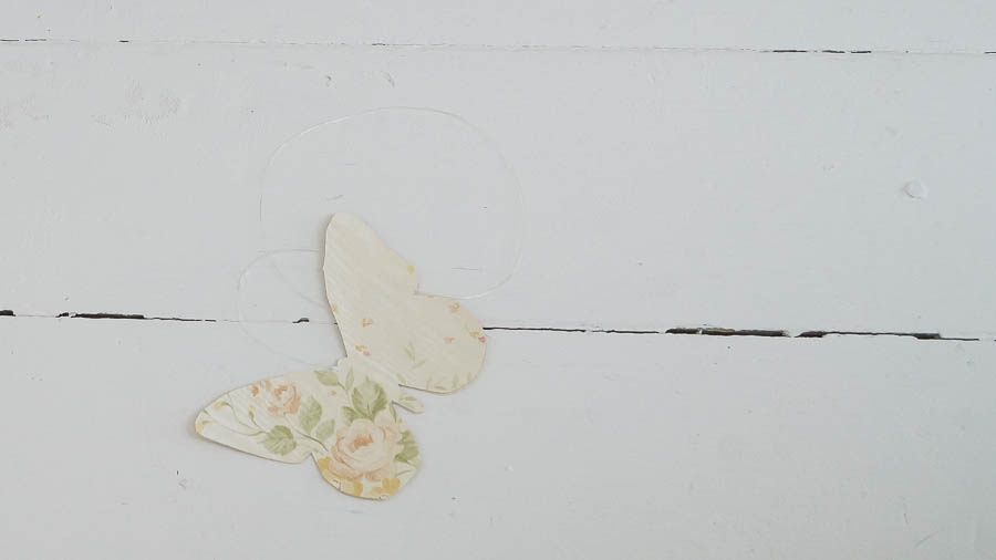 Shabby Chic butterfly spring wall paper decor (11 of 57)