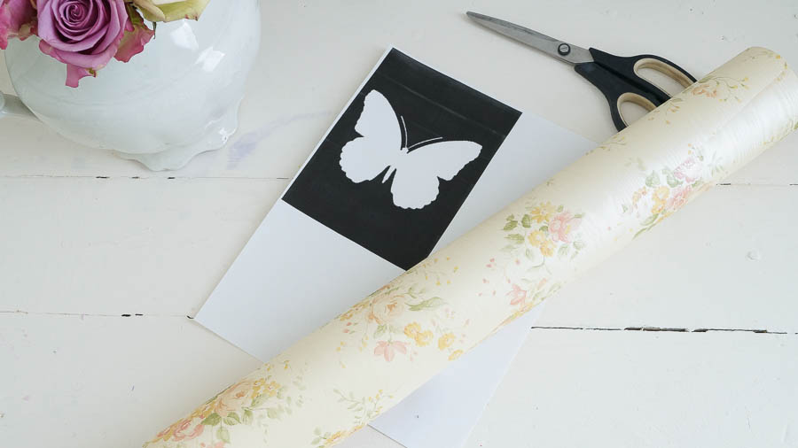 Shabby Chic butterfly spring wall paper decor (5 of 57)