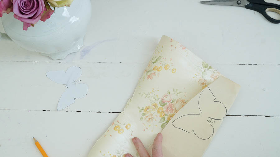Shabby Chic butterfly spring wall paper decor (8 of 57)