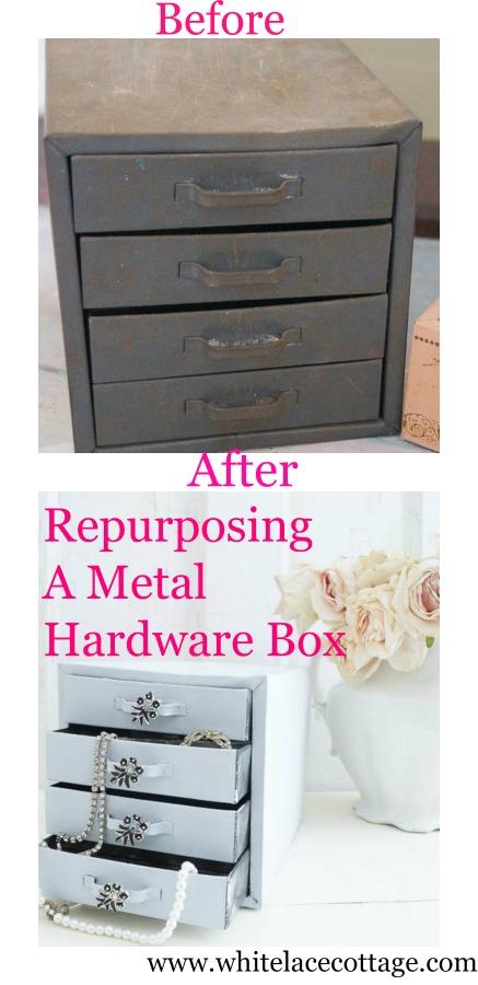 repurposing a metal hardward box