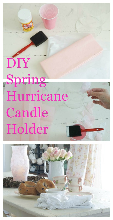 diy spring hurrican candle holder