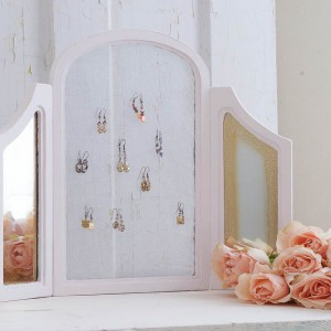 shabby chic jewelry stand from a frame white lace cottage (16 of 22)