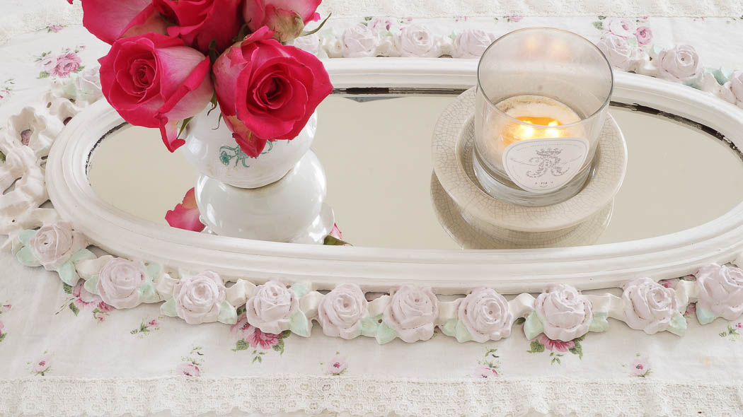 shabby chic rose mirror white lace cottage (21 of 27)