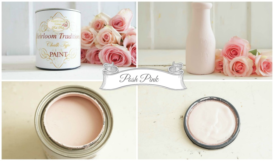 heirloom traditions white lace cottage posh pink paint