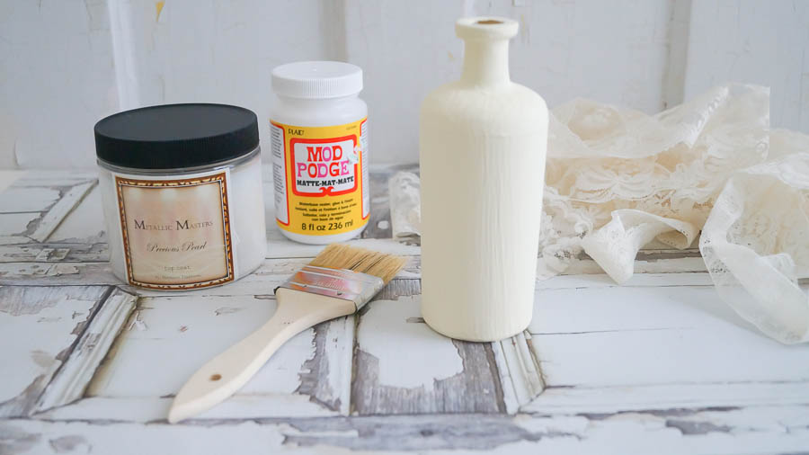 painting glass bottles vases heirloom traditions paint white lace cottage 1 of 53 - How To Paint Glass Bottle