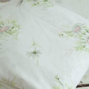 Vintage Pink Daisy King Flat Sheet