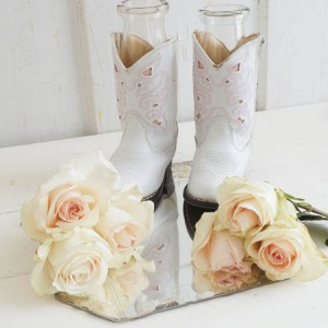 Cowgirl Boots Vase