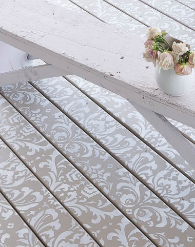 Stencil Painted Deck Floor Cutting Edge Stencils