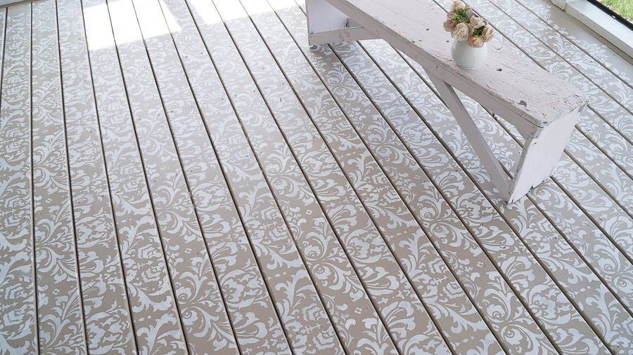 How to stencil a deck floor (7 of 14)
