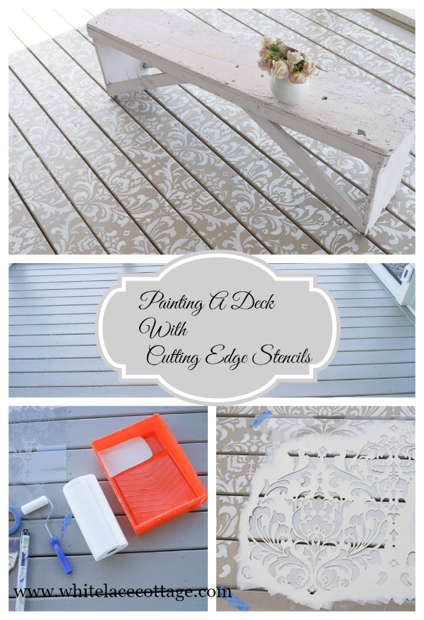 painting a deck cutting edge stencils