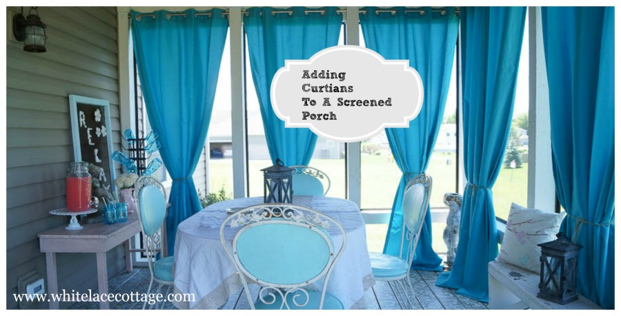 Adding curtains to a screened porch