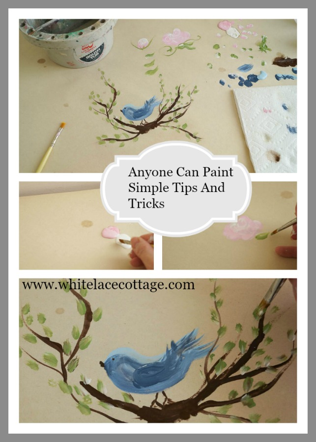 Anyone Can Paint simple tips and tricks pin now save for later