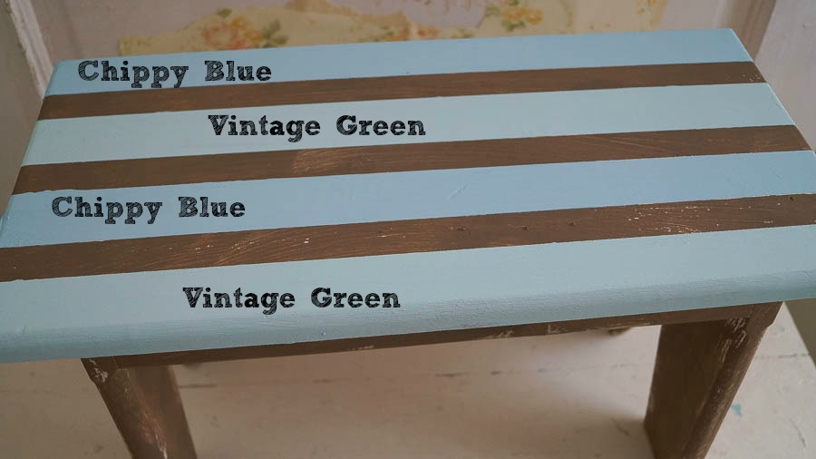 Vintage Green Chippy Blue white lace cottage hierloom traditions piant (12 of 31)
