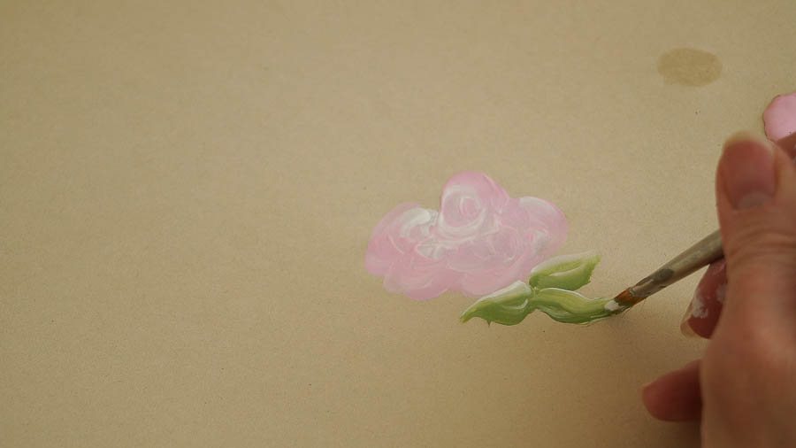 how to paint roses leaves a bird  (13 of 48)