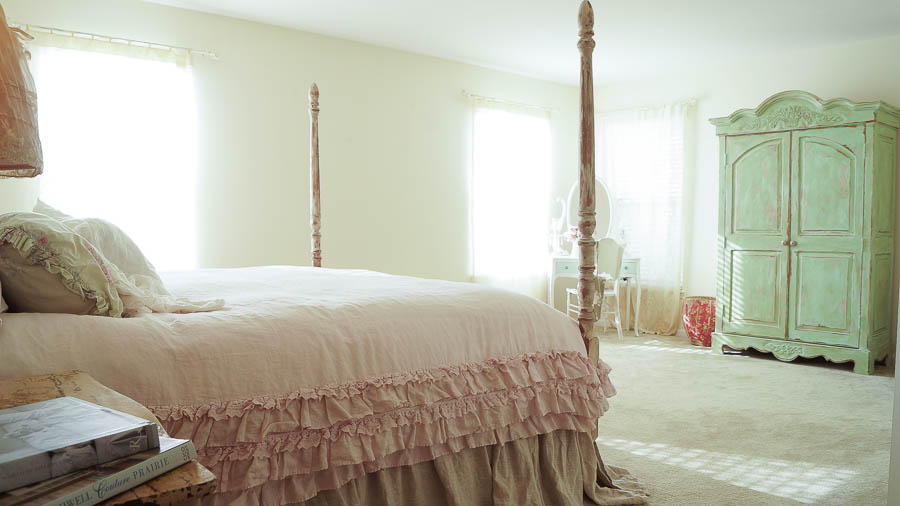 Master Bedroom Makeover On The Cheap White Lace Cottage