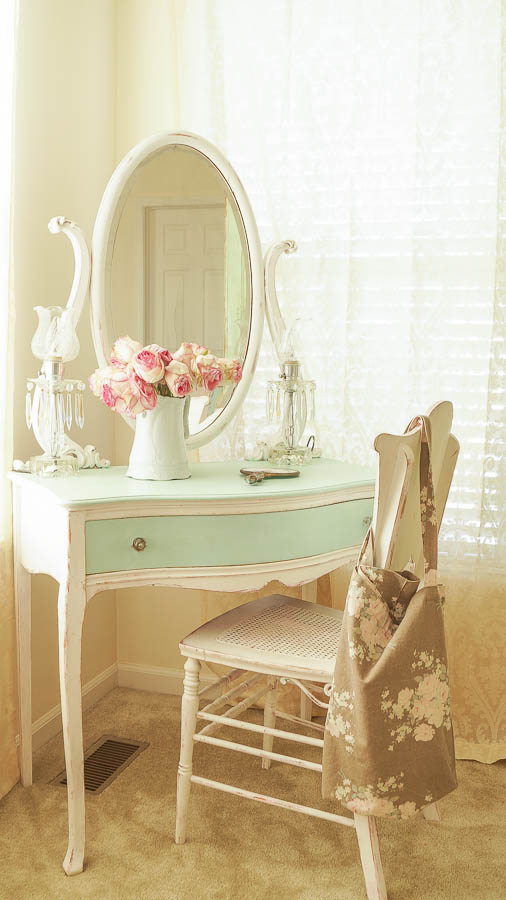 Master bedroom makeover on the cheap white lace cottage for Cheap shabby chic bedroom ideas