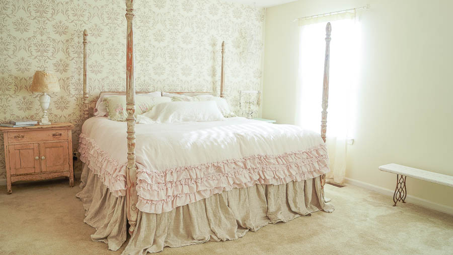 Epic FAB shabby chic master bedroom makeover