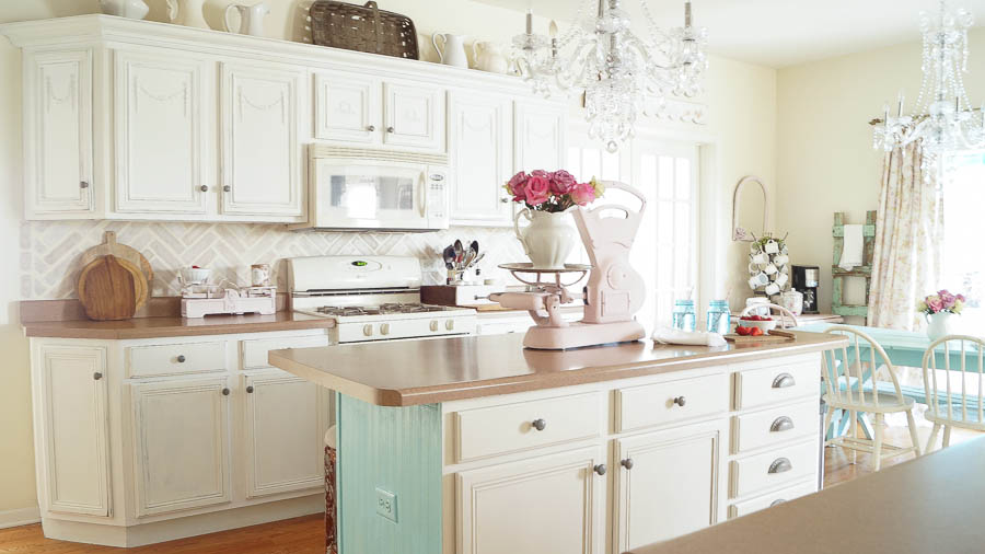 Chalk Paint On Kitchen Cabinets chalk painted kitchen cabinets never again!  white lace cottage