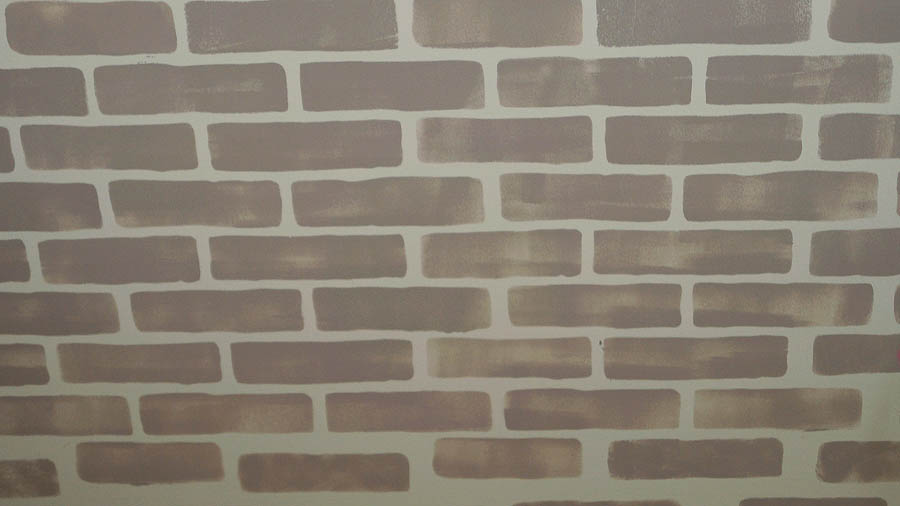 faux brick wall stencil den (9 of 9)
