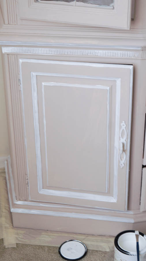 how to update a 1990's china cabinet with chalk paint (6 of 6)