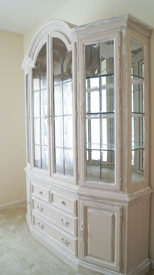 how to update a 1990's china cabinet with chalk paint (9 of 65)