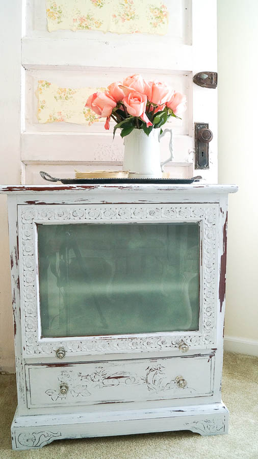 repurposed tv cabinet wine cabinet (2 of 33)