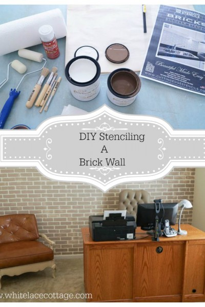 Brick Wall Using A Cutting Edge Stencil