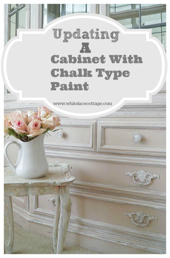 updating a cabinet with chalk type paint