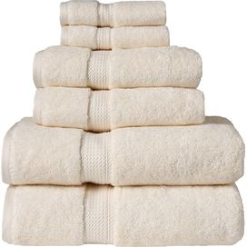 6-Piece+Egyptian+Cotton+Towel+Set+in+Cream