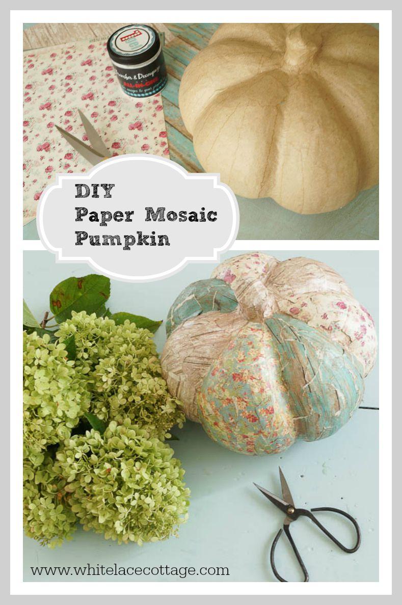 Paper Mache Mosaic Pumpkin