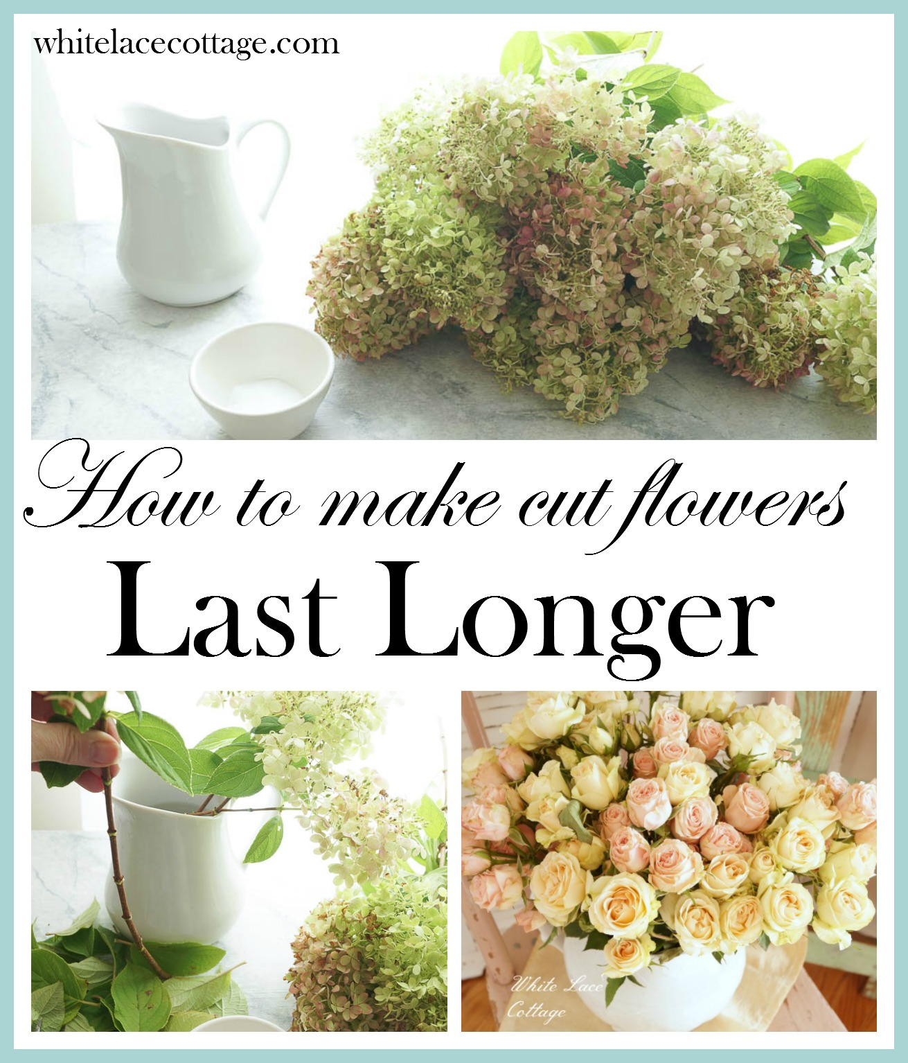How to make cut flowers last longer white lace cottage izmirmasajfo Gallery