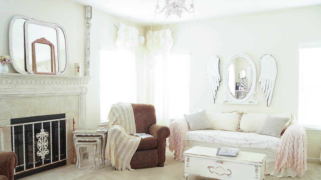 How to hang curtains white lace cottage-06584