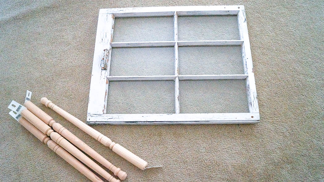DIY Repurpose An Old Window Into A Table - White Lace Cottage