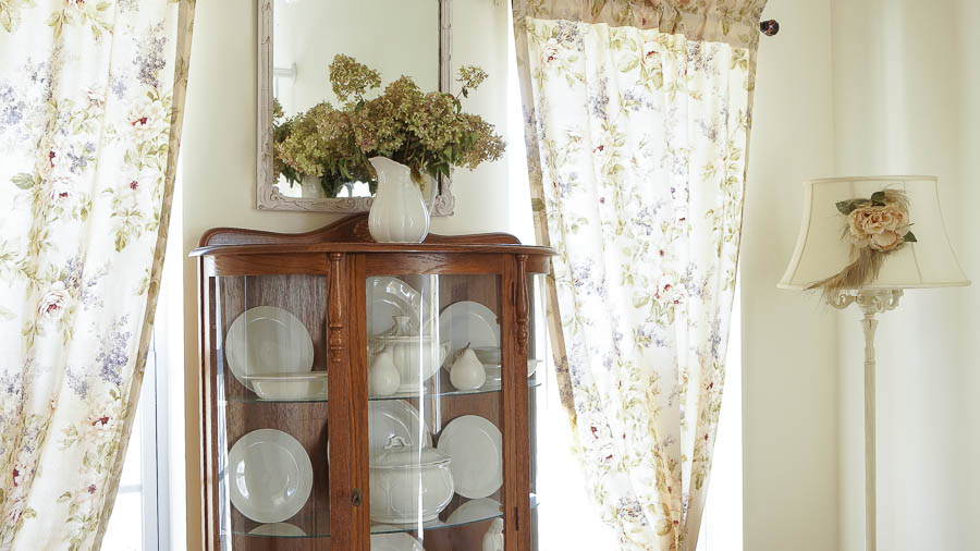 living room changes farmhouse style shabby chic white lace cottage (58 of 76)