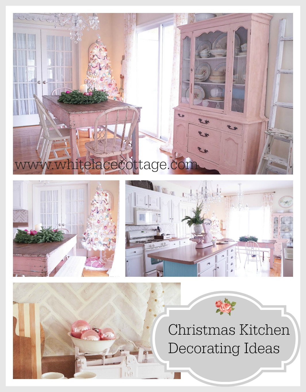 Christmas Kitchen Decorating Ideas www.whitelacecottage.com
