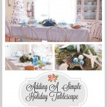 A Simple Tablescape For The Holidays
