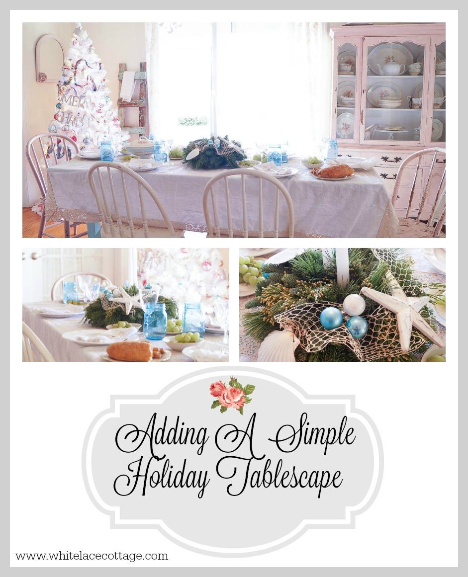 adding a simple holiday tablescape