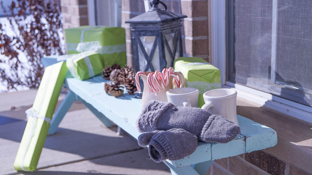 holiday decorating on a porch-08346