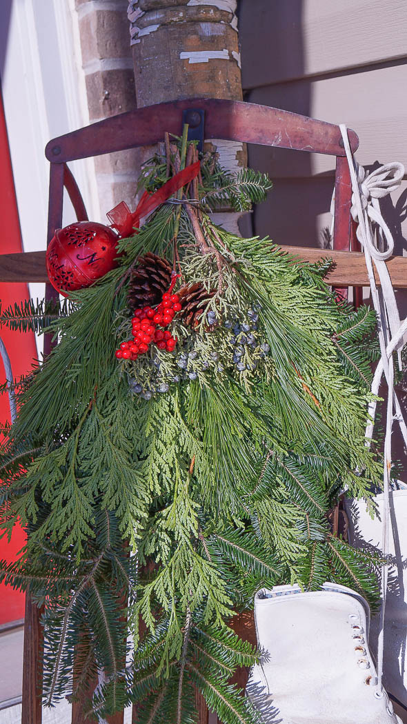 holiday decorating on a porch-08352