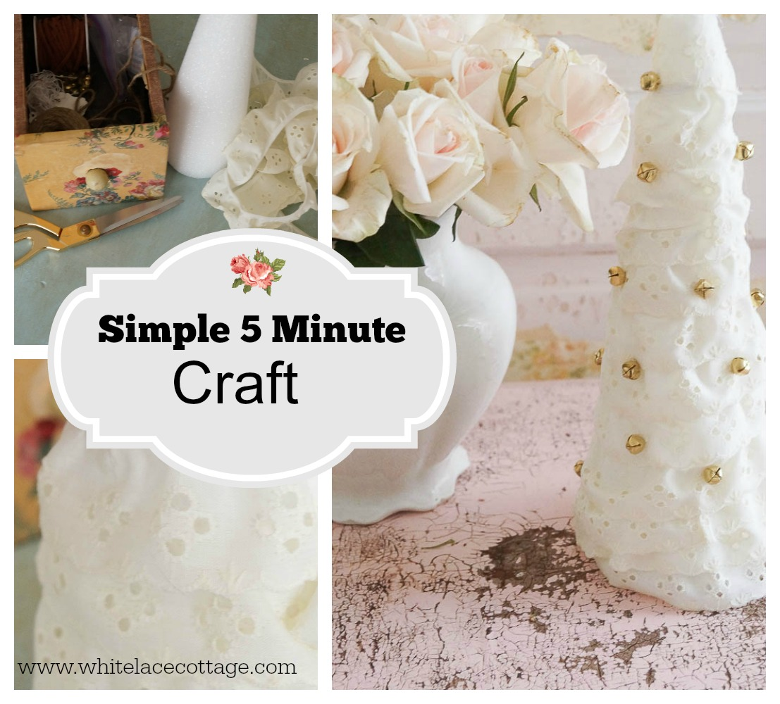Simple 5 minute craft white lace cottage for Room decor 5 minute crafts