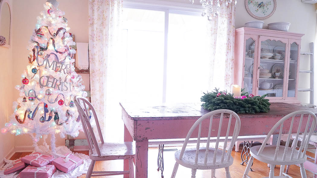 white lace cottage holiday christmas home tour shabby chic-07644